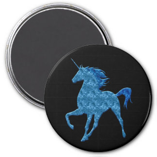 Blue Fire Unicorn Magnet Magnets