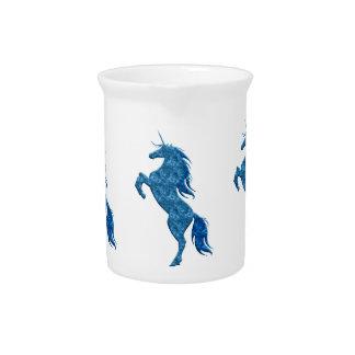 Blue Fire Unicorn Pitcher