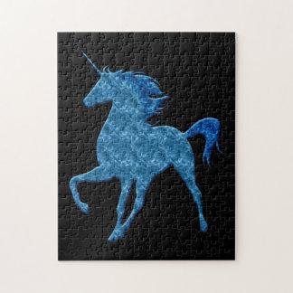 Blue Fire Unicorn Puzzle