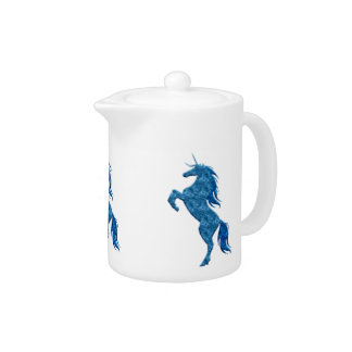 Blue Fire Unicorn Teapot