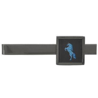 Blue Fire Unicorn Tie Bar