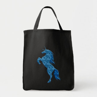 Blue Fire Unicorn Tote Bag