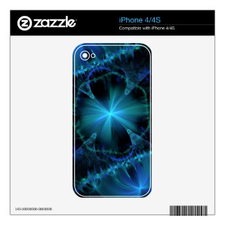 Blue Fireworks design Zazzle Skin Skin For The iPhone 4S