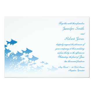 Blue Fish and Coral Wedding Invitation