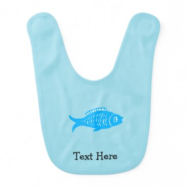 Beach Themed Blue Fish Baby Bib