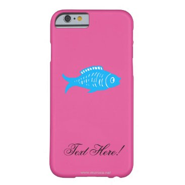 Beach Themed Blue Fish Barely There iPhone 6 Case