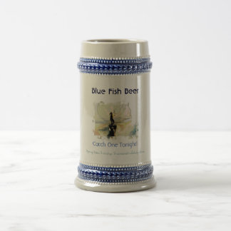 Blue Fish Beer Stein