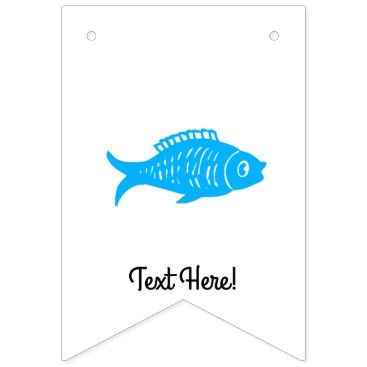 Blue Fish Bunting Flags