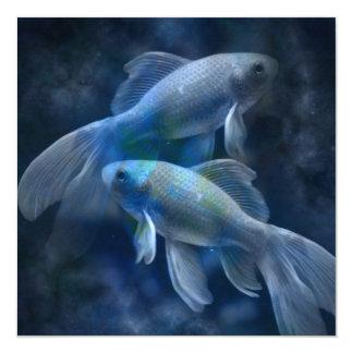 Blue koi fish invitations announcements zazzle for Blue coy fish