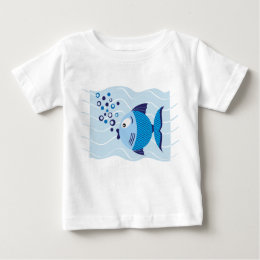 Blue Fish Composition Light T-shirt