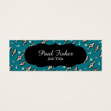 Professional Business Blue Fish Customizable Business Cards