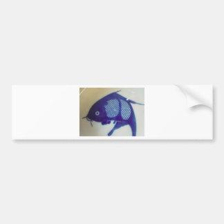 Blue Fish Design Bumper Sticker