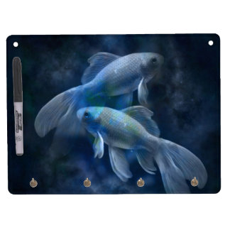 Blue Fish Dry Erase Board With Keychain Holder
