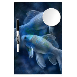 Blue Fish Dry Erase Board With Mirror