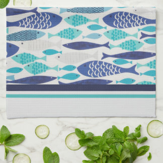 Blue Fish Hand Towel