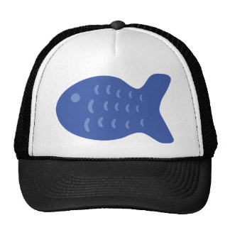blue fish icon hat