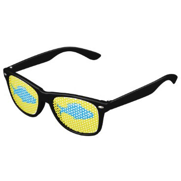 Beach Themed Blue Fish Kids Sunglasses