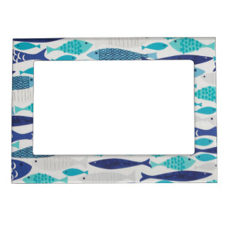 Blue Fish Magnetic Picture Frame
