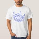 Blue Fish Maze T Shirts