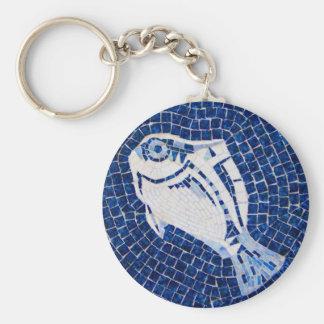 Blue Fish Mosaic Keychain