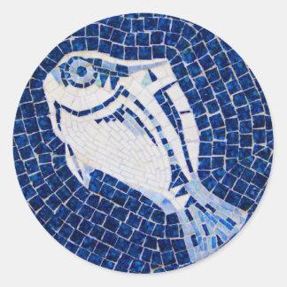 Blue Fish Mosaic Sticker