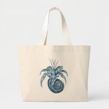 Beach Themed Blue fish ocean coastal nautical gifts large tote bag