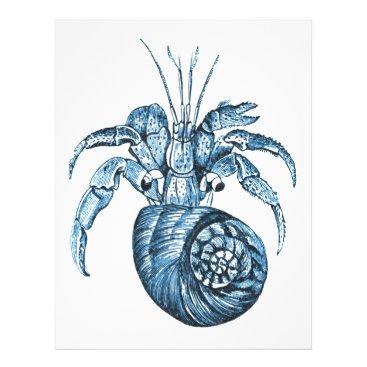 Beach Themed Blue fish ocean coastal nautical gifts letterhead