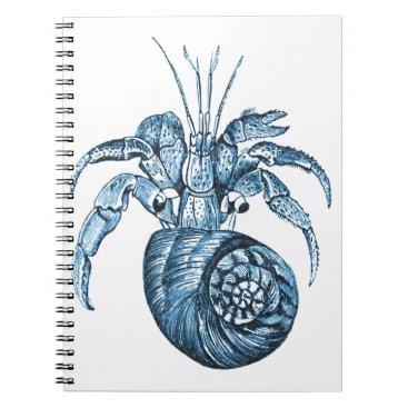 Beach Themed Blue fish ocean coastal nautical gifts spiral notebook