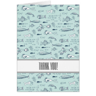 Blue Fish Thank You Card