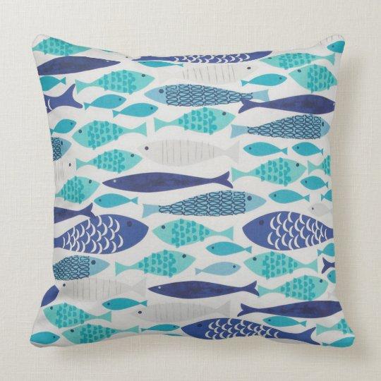 Blue Fish Throw Pillow Zazzle
