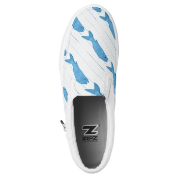 Beach Themed Blue fish Thunder_Cove Slip-On Sneakers