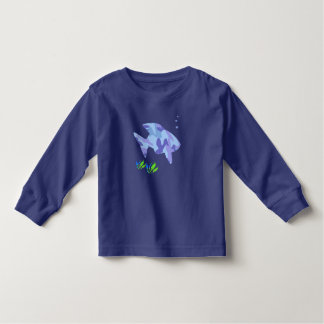 Blue Fish Toddler Shirt