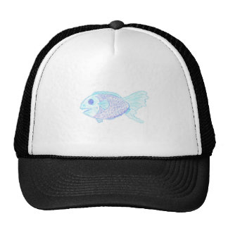 Blue Fish Trucker Hat