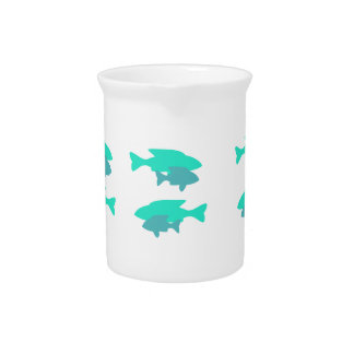 Blue Fishes Pitcher