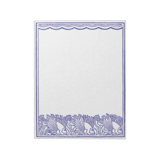 Blue Fishes Swimming Under the Waves Notepad