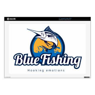 """Blue Fishing 17"""" Laptop Skin"""