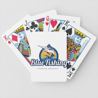 Blue Fishing Bicycle Playing Cards