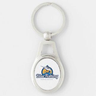 Blue Fishing Key Chain