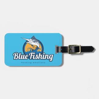Blue Fishing Luggage Tag