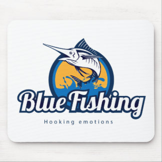 Blue Fishing Mouse Pad