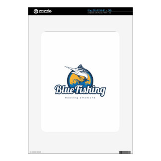 Blue Fishing Products iPad Skins