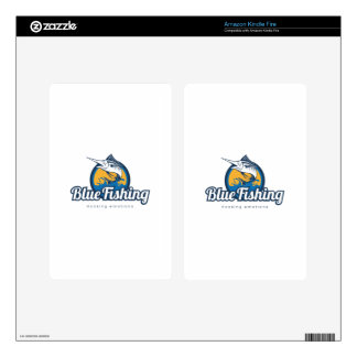 Blue Fishing Products Kindle Fire Decal