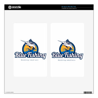 Blue Fishing Skins For Kindle Fire