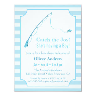 Fish Theme Invitations Announcements Zazzle