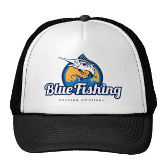 Blue Fishing Trucker Hat