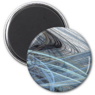 Blue Fizz Abstract Design Magnet
