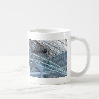 Blue Fizz Abstract Design Mug