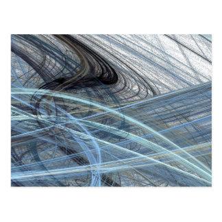 Blue Fizz Abstract Design Postcard