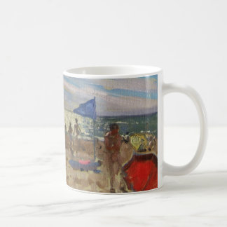 Blue flag and red sun shade Montalivet Coffee Mug