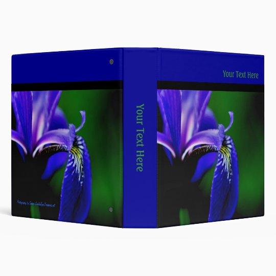 Blue Flag Iris Floral Binder